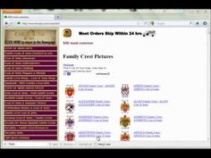 New on Abbys Buy Sell Genealogy: 4crests coat of arms - YouTube