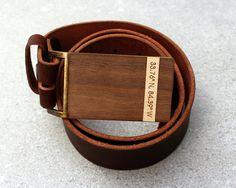 Anniversary Gift for guy Men's Custom Belt Buckle 5th by ShopJoyo