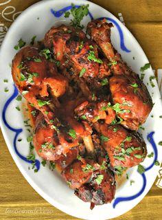 Pollo con sirope de arce y Sriracha #comidaasiatica