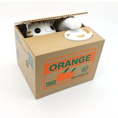 eSmart Chatora Cat Itazura Piggy Bank Automated Cute Cat Stealing Coin Savings Box -- Check out this great product.