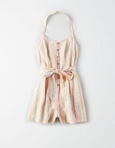 AE Button Front Halter Romper by American Eagle Cute Casual Outfits, Cute Summer Outfits, Pretty Outfits, Fashionable Outfits, American Eagle Outfits, American Eagle Shirts, Cute Fashion, Fashion Outfits, Rompers Women