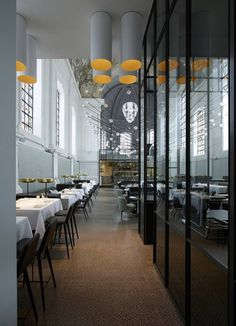 Elegant Ciel De Paris Interior Restaurant Design Used Modern Chair  Furniture In Grey And Yellow Color Made From Leather Material | Restaurant  | Pinterest ...