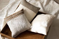Set di tre cuscinetti quadrati