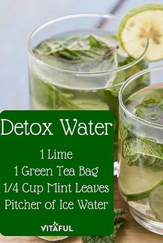 Green Tea Detox Water Recipe For Weight Loss