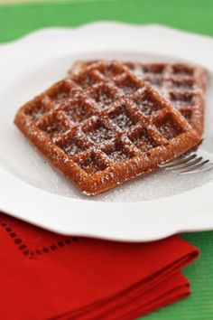 gingerbread waffles...these were good.  No syrup needed.  Have a lot of sugar but don't need to add anything!