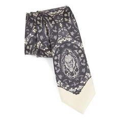 $195, Lace Print Tie by Alexander McQueen. Sold by Nordstrom. Click for more info: http://lookastic.com/men/shop_items/85128/redirect