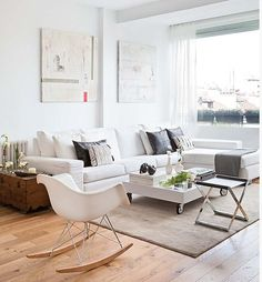 Sofa, trunk, carpet.
