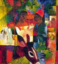 August Macke - Markt in Tunis (72,0 x 80,0 cm)