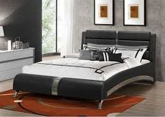 Shop a great selection of BOWERY HILL Faux Leather Modern King Platform Bed Padded Headboard Black Chrome. Find new offer and Similar products for BOWERY HILL Faux Leather Modern King Platform Bed Padded Headboard Black Chrome. King Platform Bed, Upholstered Platform Bed, Upholstered Beds, Coaster Furniture, Bedroom Furniture, Queen Size Bed Sets, King Size, Platform Bed Designs, Casa Loft