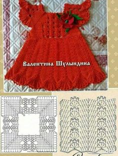 How to Crochet Cuffed Baby Booties - Crochet Ideas Crochet Toddler Dress, Crochet Dress Girl, Crochet Baby Dress Pattern, Baby Dress Patterns, Crochet Fabric, Crochet Motifs, Baby Girl Crochet, Crochet Baby Clothes, Crochet Diagram