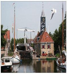 The old lock in Hindeloopen, Friesland, Holland.