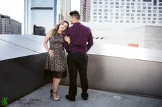 Downtown Los Angeles Engagement, downtown, LA, engagement, inspiration, city, city life, architecture, nightlife, night, lights, fountain