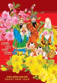 Happy Vietnamese New Year, Happy Chinese New Year, Happy New Year, Doi Song, Nouvel An, Amazing Flowers, Disney Characters, Illustration, Illustrations