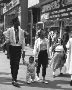 young black family by vivian maier 1950s