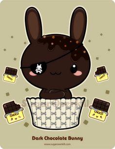 Dark Chocolate Truffle Bunny by =mAi2x-chan on deviantART