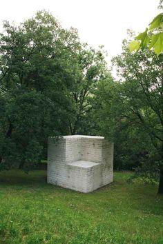 """""""Cubo senza cubo"""" by Sol Lewitt, 1988_Collezione Gori - Fattoria di Celle, Santomato (Pistoia), IT"""