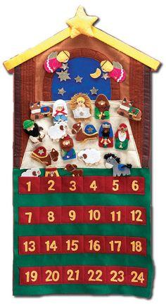 felt Advent Calendar with Nativity scene