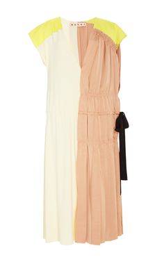 Short Sleeved Color Blocked Dress by MARNI Now Available on Moda Operandi