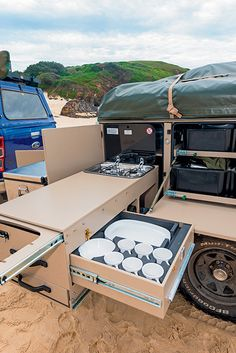 Camper Trailer Australia, Small Camper Trailers, Teardrop Camper Trailer, Off Road Camper Trailer, Small Campers, Trailer Build, Rv Trailers, Suv Camper, Camping Trailers