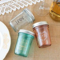 Personalized Printed Glass Mason Jar by Beau-coup