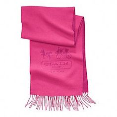Gifts 100-200: Coach Cashmere Horse and Carriage Scarf