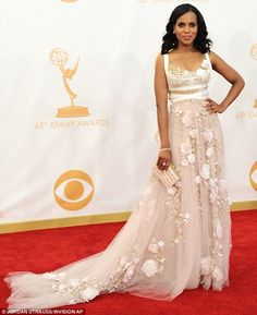 Gorgeous: Pregnant or not Kerry stunned in the Marchesa design