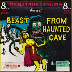 Beast from Haunted Cave. Movies Box, Home Movies, Scary Movies, Best Movie Posters, Horror Movie Posters, Horror Movies, Science Fiction, Movie Reels, 8mm Film