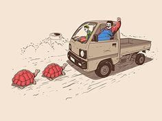 'Just Like Video Game' Funny Fat Plumber Running Over Turtles Parody 24x18 - Vinyl Print Poster