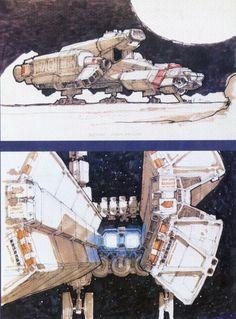 """Concept art for """"Alien"""" by Ron Cobb"""