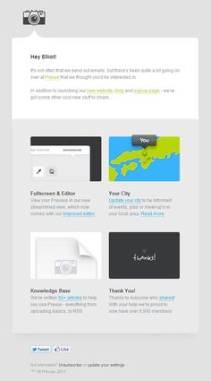 Nice email layout from Prevue via email design review    http://www.emaildesignreview.com/email-design-inspiration/email-inspiration-prevue-newsletter-973/