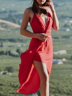 Solid Color Asymmetric Sexy Spaghetti Strap Women's Dress