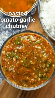tomato garlic chutney recipe | roasted lahsun tamatar ki chutney | tomato & garlic chutney with detailed photo and video recipe. perhaps one of the flavoured and tasty chutney condiment recipe made with ripe tomatoes, chilli & garlic. it is an ideal multipurpose side dish for the choice of rice recipes, but not limited to it and can be served with chapati and roti too. unlike other traditional chutney recipes, this chutney does not have coconut used as it is prepared by mashing the veggies. Puri Recipes, Pakora Recipes, Paneer Recipes, Veg Recipes, Spicy Recipes, Vegetarian Recipes, Cooking Recipes, Indian Chutney Recipes, Indian Dessert Recipes