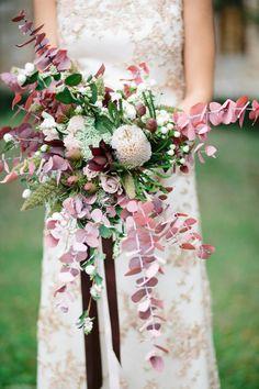 Fall elegant wedding bouquet: http://www.stylemepretty.com/destination-weddings/2017/01/06/tuscan-countryside-elopement/ Photography: Esther and Gabe - http://www.estherandgabe.com/