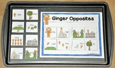 The Gingerbread Opposites Cookie Sheet Activity is a hands-on activity that focuses on identifying opposites. Cookie sheet activities work well in both independent learning stations and literacy centers. Early Learning Activities, Learning Stations, Hands On Activities, Cookie Sheet Activities, File Folder Games, Literacy Centers, Gingerbread Man, Winter Holidays, Seasons
