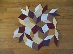 lightspeed: In progress: penrose tile quilt