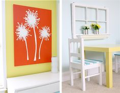 DIY Dandelion painting