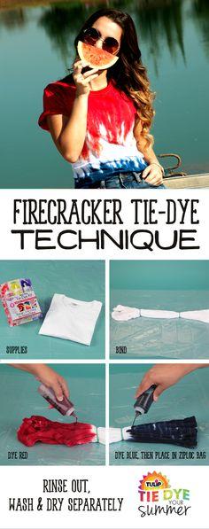 Love this firecracker tie dye technique!