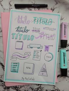 Bullet Journal Titles, Bullet Journal Aesthetic, Bullet Journal Inspo, My Journal, Hand Lettering Fonts, Lettering Tutorial, Bellet Journal, To Do Planner, Organization Bullet Journal