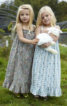 Love these precious girly dresses.