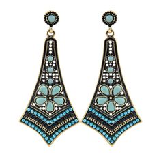 Fashion Big Earrings For Women 2015 Vintage Bohemia Gold Candy Ethnic Charms Beads Link Pendant Statement Drop Earrings Jewlery-in Drop Earrings from Jewelry & Accessories on Aliexpress.com | Alibaba Group