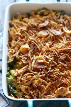 Cheese + bacon = AMAZING green bean casserole! Everyone LOVES this.