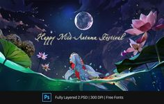 Mid Autumn Festival Artwork. Download at Creatily Store mid-autumn, festival, poster, full-moon