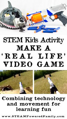 STEM Kid's Activity using technology to create a first person, real life, video game with your kids. Watch as they not only get up and busy, but also develop skills in video editing and collaboration. It's fascinating to see the world through your child's Steam Activities, Hands On Activities, Science Activities, Science Fun, Stem Learning, Outdoor Learning, Kids Learning, Real Life Video, Best Kids Watches