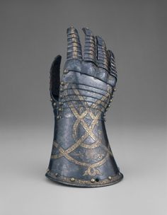 Anton Peffenhauser German, Augsburg  Fingered Gauntlet for the Right Hand, 1571  Steel with gilding