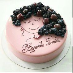 Portrait Hair Berry Cake Design via @pavlova11alina 😍🍓🍇❤❤💝👌 #Cakebakeoffng #CboCakes #InstaLove #Like4Like #AmazingCake #CakeInspiration