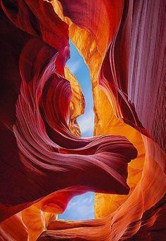 Antelope Canyon detail, Arizona, United States. #photography #landscape #mountain