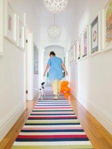 Bright hallway runner