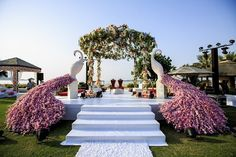 So summery: 11 mandap designs, perfect for scorching summer/ beach weddings! - india news & updates on eventfaqs Desi Wedding Decor, Wedding Stage Design, Wedding Hall Decorations, Luxury Wedding Decor, Wedding Mandap, Wedding Designs, Wedding Venues, Marriage Decoration, Destination Wedding