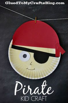 Pirate {Kid Craft} paper plate