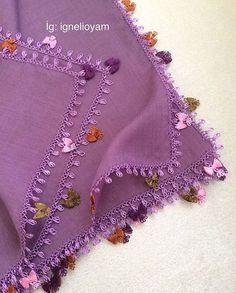 This post was discovered by ay Crewel Embroidery, Embroidery Patterns, Yarn Crafts, Diy And Crafts, Crochet Borders, Needle Lace, Bargello, Textiles, Crochet Projects